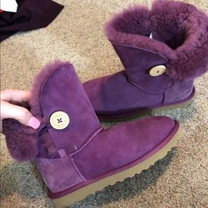 UGG Bailey Button Boots Blue Purple Size 10 new